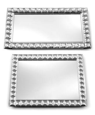 "Mirrored Sparkle 14"" Tray"