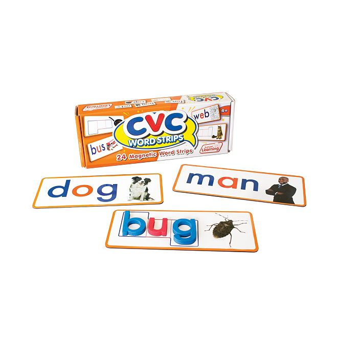 Junior Learning CVC Word Strips Magnetic Learning Set
