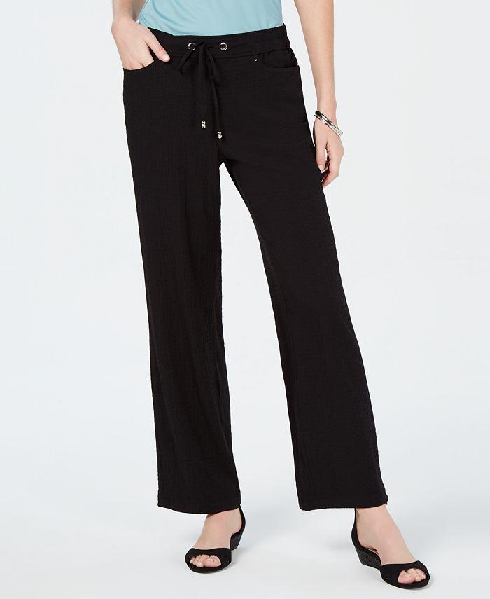 JM Collection - Crinkle Wide-Leg Pants
