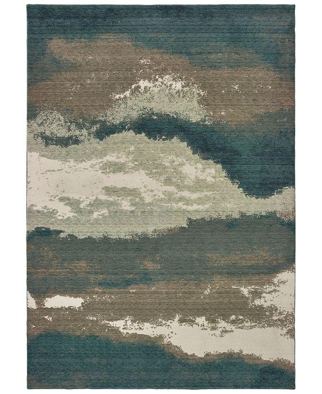 Oriental Weavers Montage 1801B Blue/Ivory 2' x 3' Area Rug