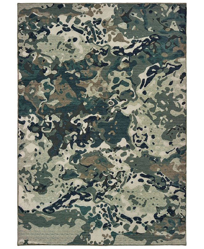 "Oriental Weavers Montage 090LE Blue/Gray 9'10"" x 12'10"" Area Rug"