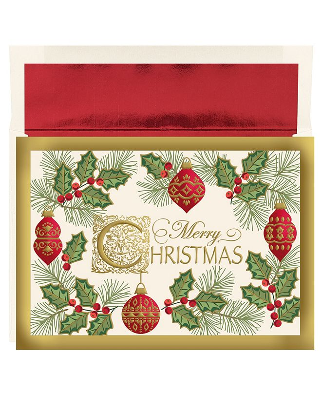 Masterpiece Cards Christmas Holiday Boxed Cards, 16 Cards and 16 Envelopes
