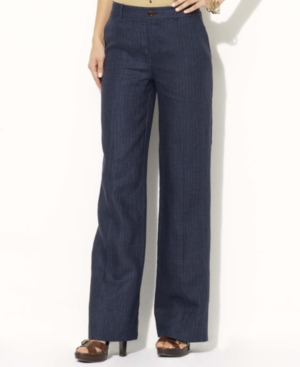 Lauren by Ralph Lauren Pants, Andover Wide Leg Linen