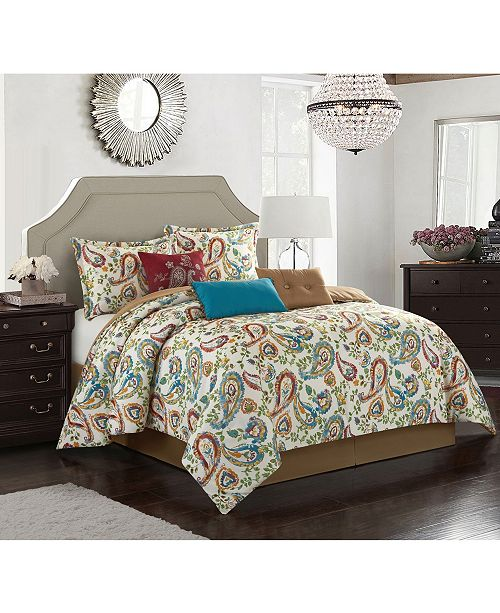 Nanshing Autumn Paisley 7 Piece King Comforter Set & Reviews