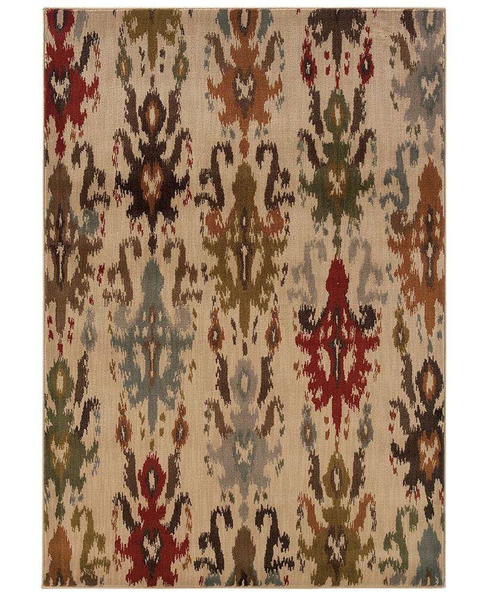"""Oriental Weavers - Casablanca 4437A Ivory/Multi 7'10"""" x 10'10"""" Area Rug"""