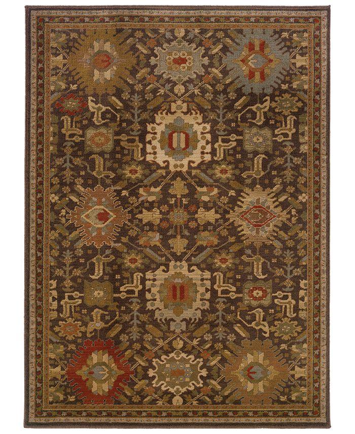 """Oriental Weavers - Casablanca 4444A Mink/Multi 6'7"""" x 9'6"""" Area Rug"""