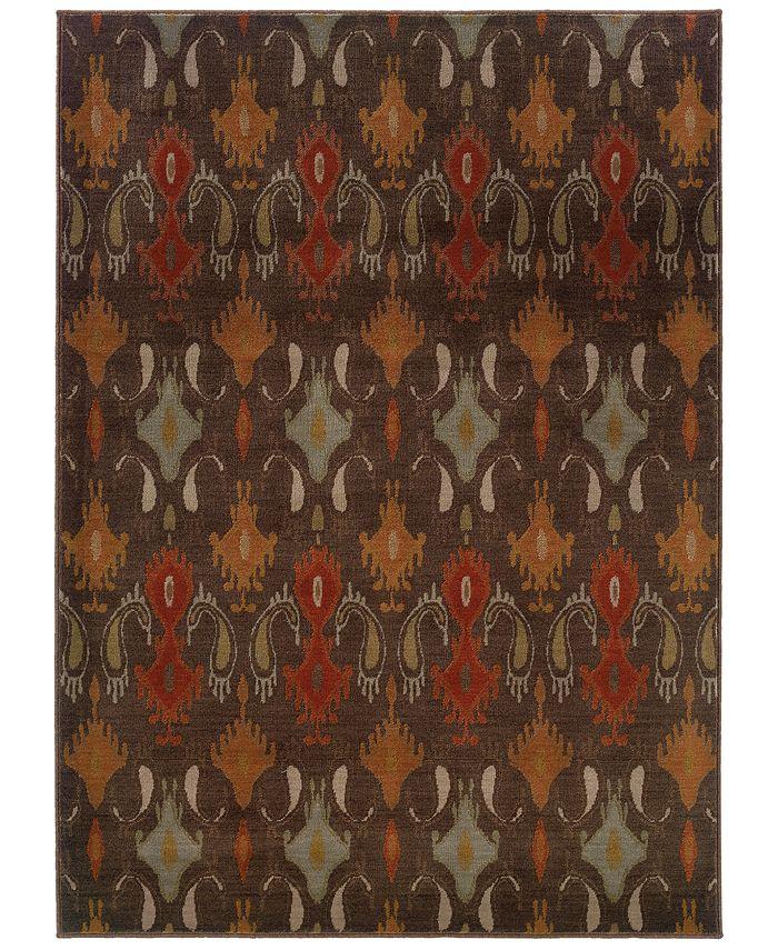 """Oriental Weavers - Casablanca 4447A Mink/Multi 5'3"""" x 7'6"""" Area Rug"""