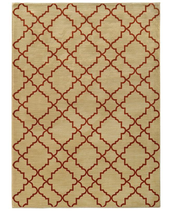 """Oriental Weavers CLOSEOUT!  Casablanca 5178E Beige/Rust 1'10"""" x 3'3"""" Area Rug"""