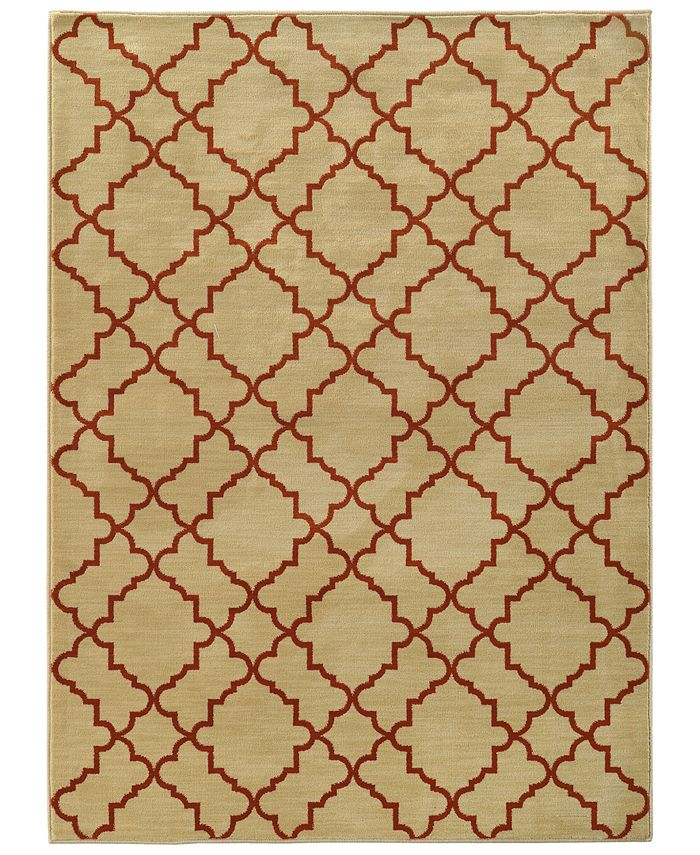 """Oriental Weavers - Casablanca 5178E Beige/Rust 6'7"""" x 9'6"""" Area Rug"""