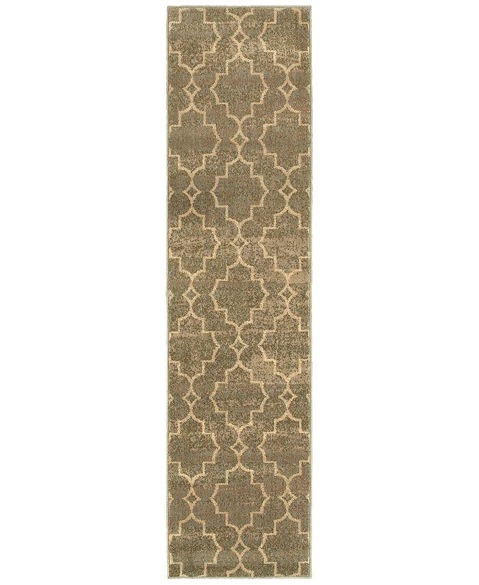 """Oriental Weavers - Casablanca 5329B Brown/Ivory 1'10"""" x 7'6"""" Runner Area Rug"""