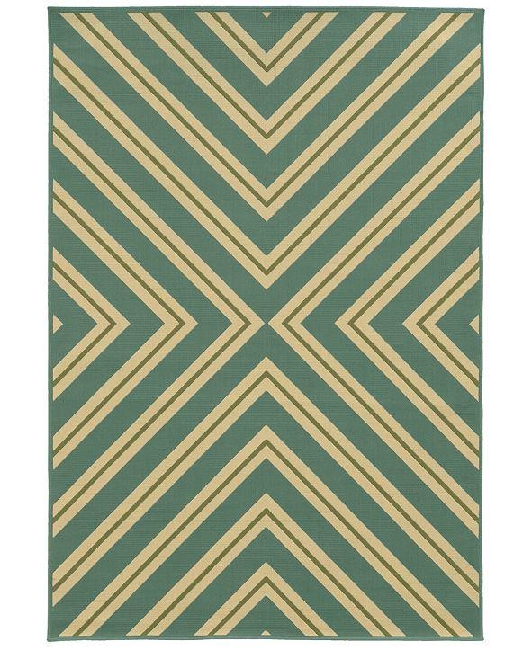 """Oriental Weavers Riviera 4589 7'10"""" x 10'10"""" Indoor/Outdoor Area Rug"""
