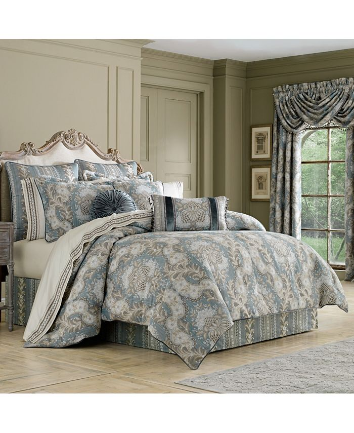 J Queen New York - Crystal Palace French Blue California King Comforter Set