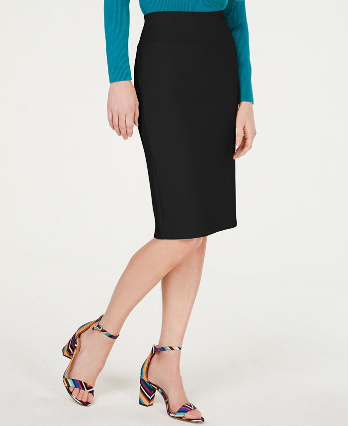 Inc International Concepts Inc Solid Scuba Pencil Skirt Created For Macy S Reviews Skirts Women Macy S