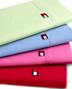 Tommy Hilfiger Solid Sheet Sets, Twin Extra Long Bedding