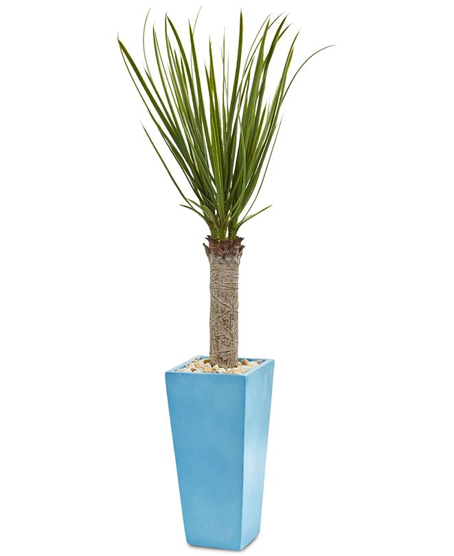 Nearly Natural 4' Yucca Artificial Tree in Turquoise Planter