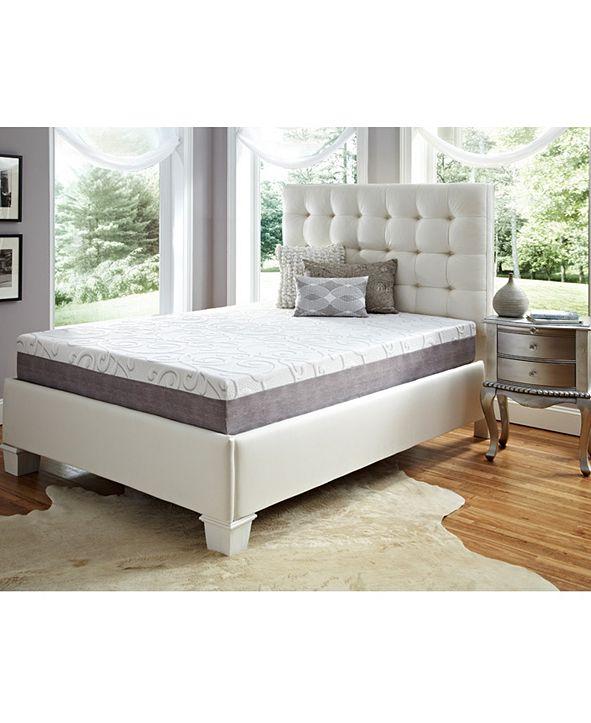 "Future Foam 10"" Comfort Loft Gray Rose with Ebonite Twin Xlong Memory Foam and Comfort Choice, Firm"