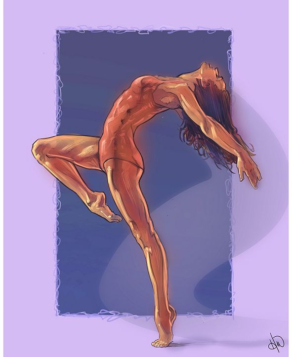"Creative Gallery Yoga Dancer in Purple 24"" x 36"" Acrylic Wall Art Print"
