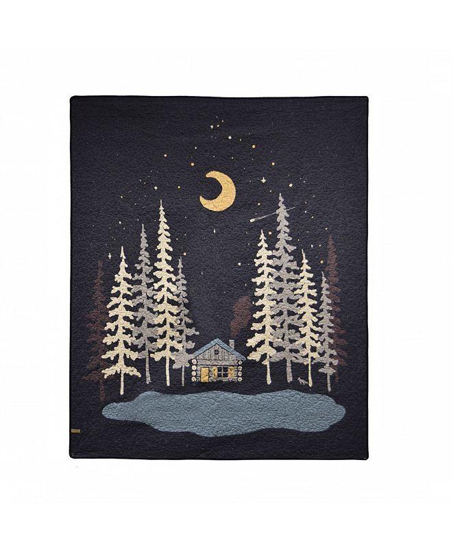 American Heritage Textiles Moonlit Cabin Throw