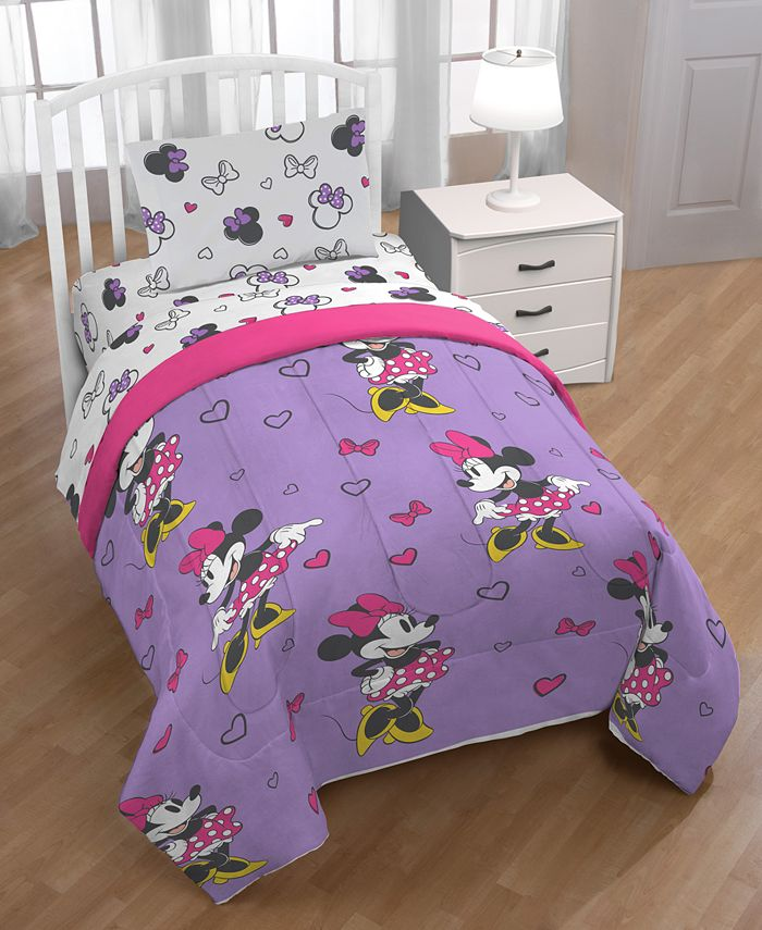 Disney Minnie Mouse Purple Love Full 5 Pc Bed In A Bag Reviews Bed In A Bag Bed Bath Macy S