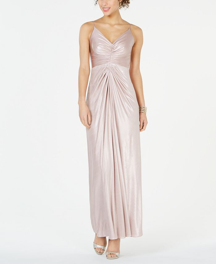 Adrianna Papell - Allover Metallic Knotted Gown