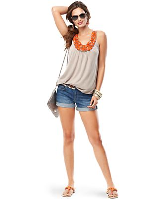 Summer Vacation Embellished Shorts and Tank Look