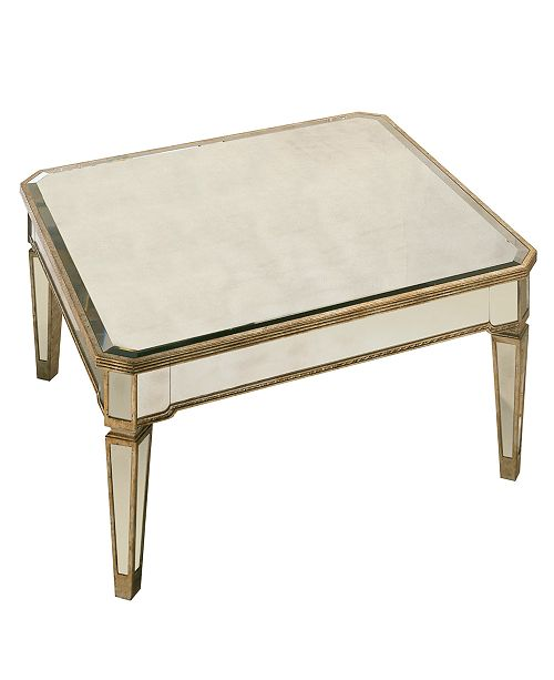 Furniture Closeout Marais Table Mirrored Square Coffee Table Reviews Furniture Macy S