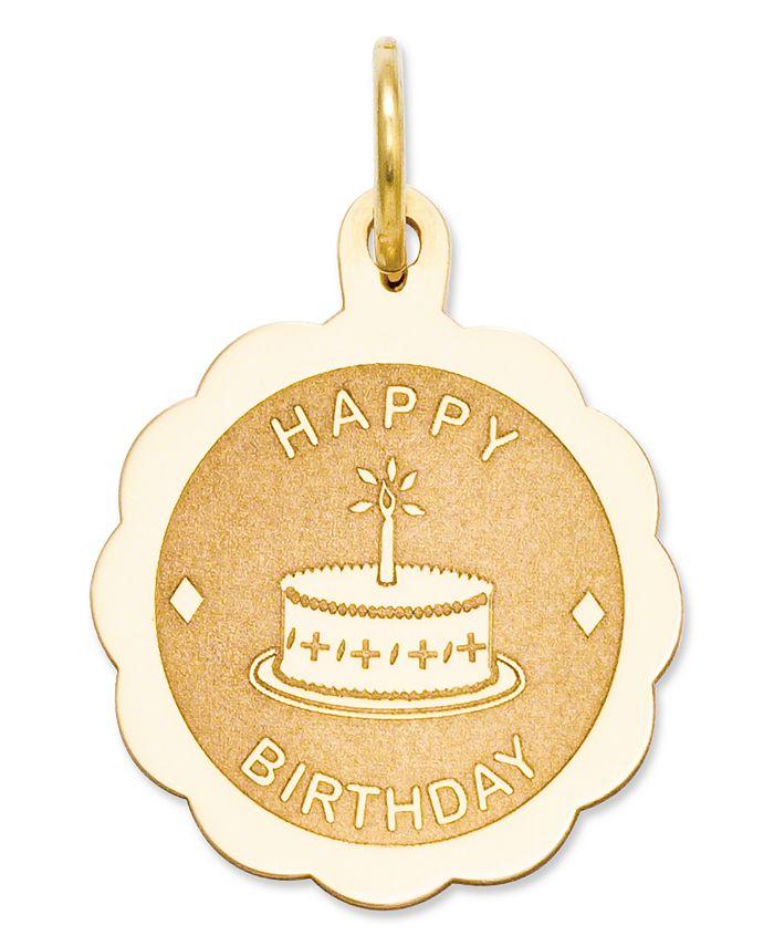 Macy's - 14k Gold Charm, Happy Birthday Charm