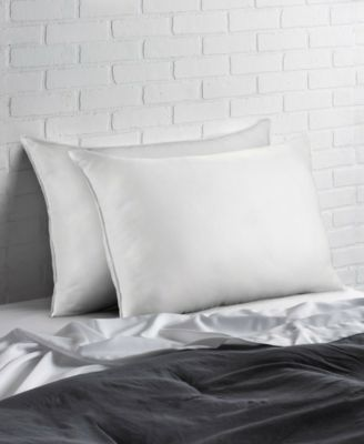 Cotton Blend Superior Down -Like SOFT Stomach Sleeper Pillow - Set of Two - Standard