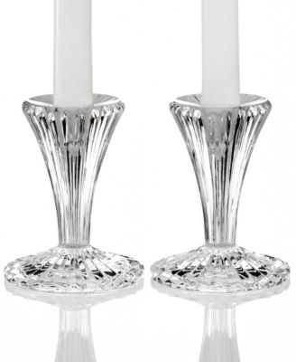 Marquis by Waterford Candle Holders, Set of 2 Bezel Candlesticks