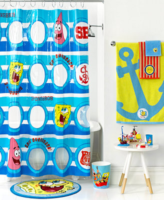 Nickelodeon Bath Accessories, Spongebob Set Sail Collection - - Macy's