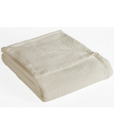 Elite Home Grand Hotel Waffle Knit Cotton King Blanket