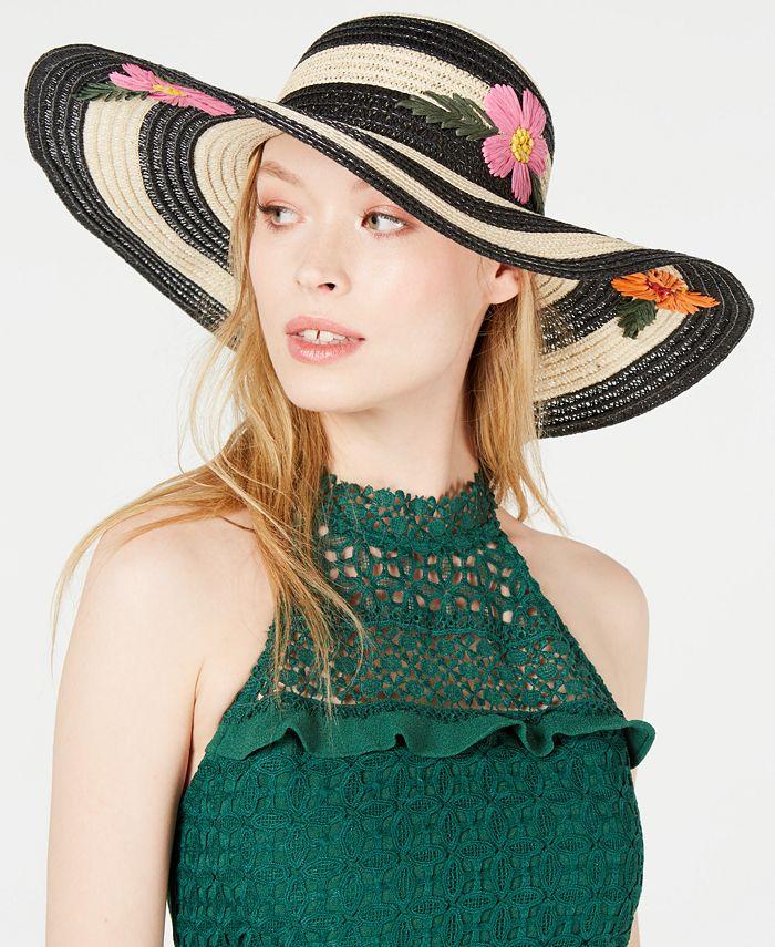 Betsey Johnson - Floral Bliss Floppy Hat