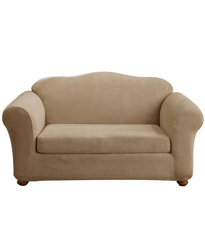 Sure Fit - Stretch Royal Diamond Two Piece Loveseat Slipcover