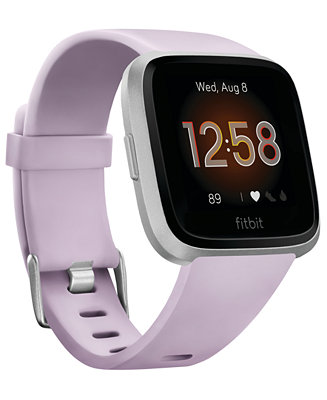 Fitbit Versa Lite Lilac Strap Smart Watch 39mm Reviews Watches Jewelry Watches Macy S