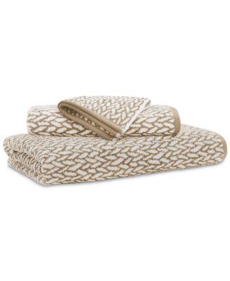 """Sanders  Antimicrobial Cotton Basket Weave 30"""" x 56"""" Bath Towel"""