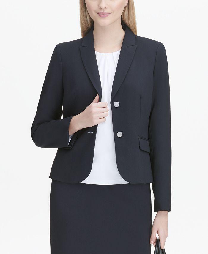 Calvin Klein - Jacket, Flap-Pocket Blazer