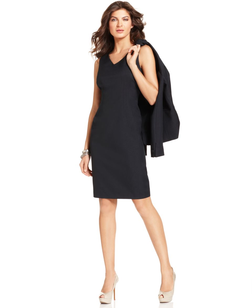 Kasper Dress, Sleeveless Scoop Neck Sheath   Womens Suits & Suit