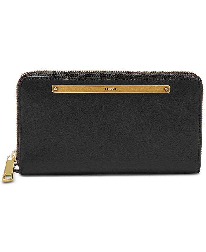 Fossil - Liza Leather Zip-Around Wallet