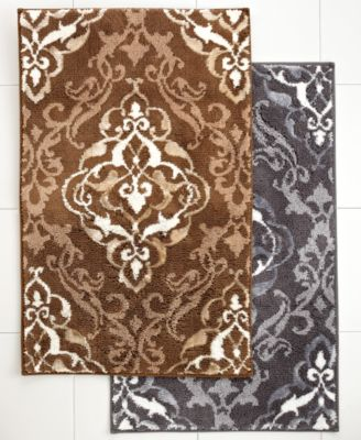"Charter Club Damask Scroll 20"" x 34"" Bath Rug"
