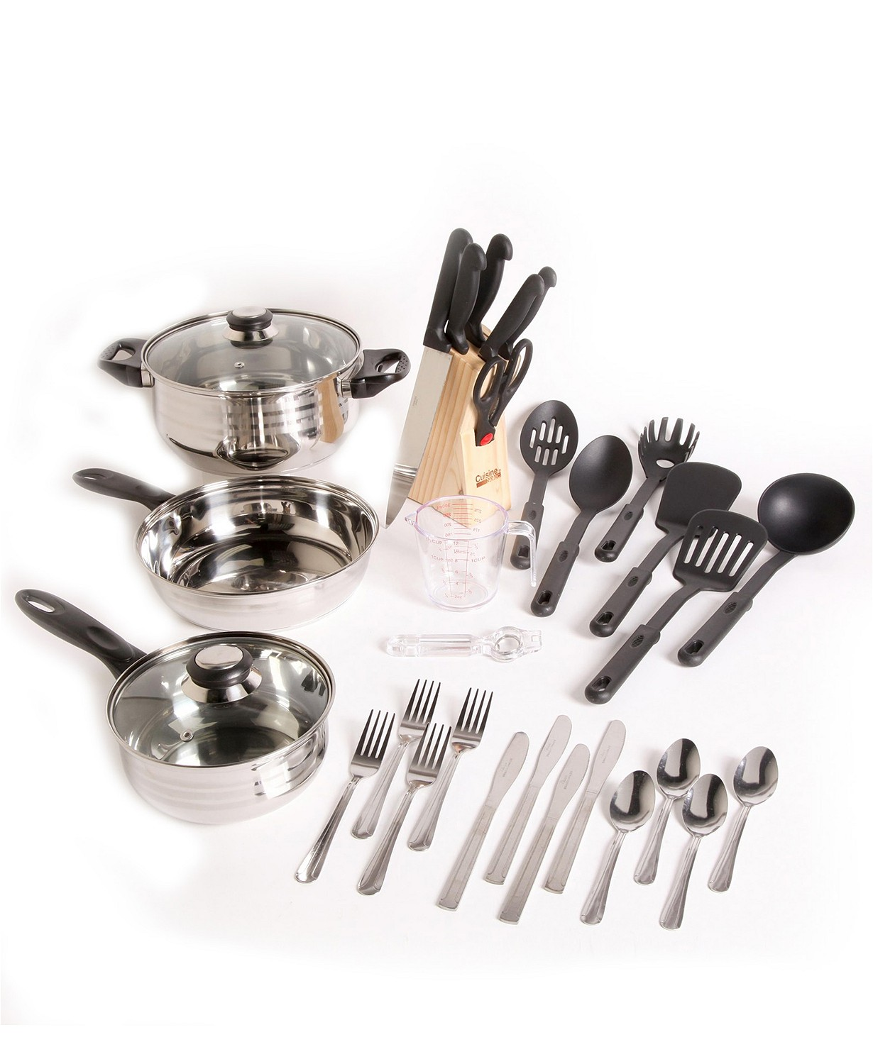 (48% OFF Deal) Lybra 32 Piece Cookware Combo Set $46.99