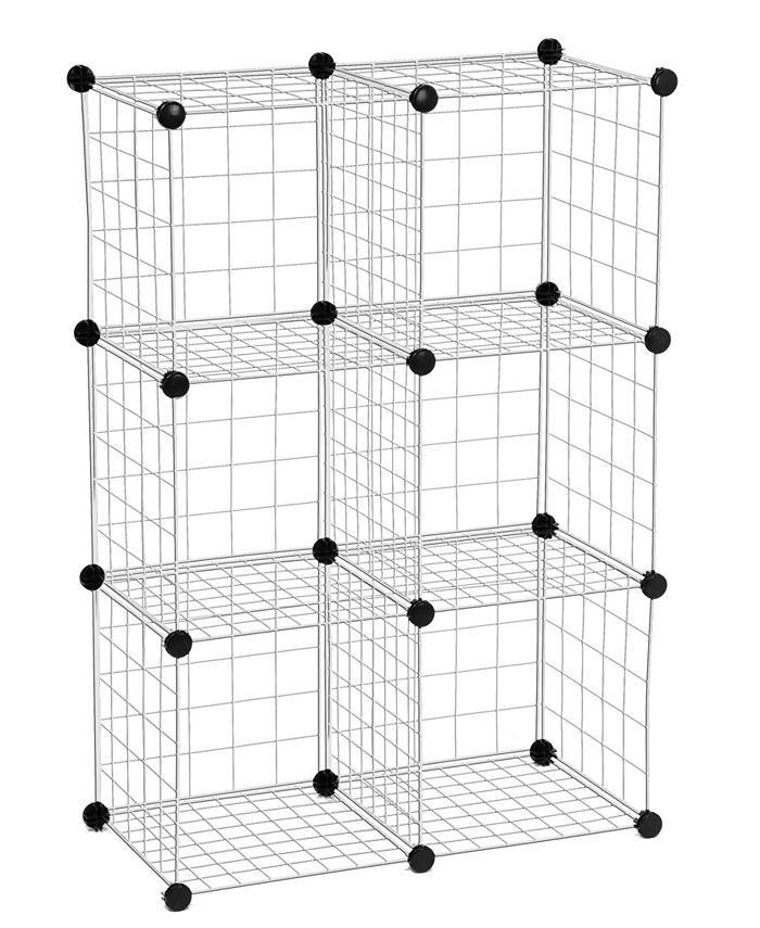 Honey Can Do - Modular Mesh Storage Cubes, 6 Pack
