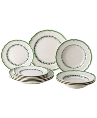 French Garden Green Line 12-Pc. Set, Created for Macy's