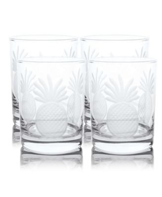 Pineapple Double Old Fashioned 14Oz - Set Of 4 Glasses