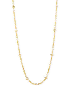 """CHARMBAR™ Beaded Link Chain Necklace, Adjustable 16"""" - 20"""""""
