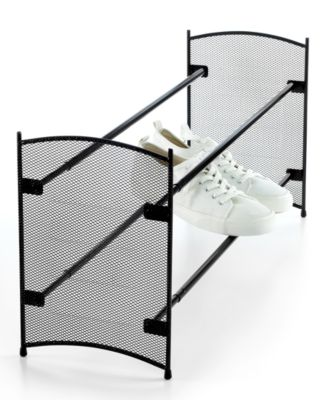LYNK Shoe Rack, Mesh Sided Expandable & Stackable