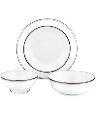 kate spade new york Library Lane Platinum Round Serving Bowl