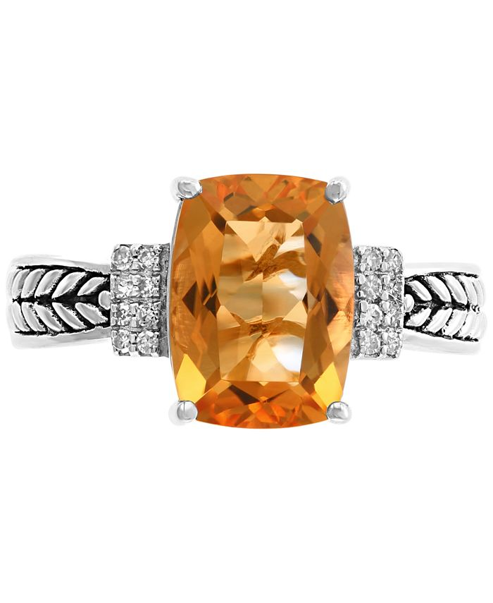 EFFY Collection - Citrine (3-1/4 ct.t.w.) & Diamond Accent Statement Ring in Sterling Silver