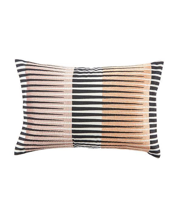 "Jaipur Living Nikki Chu By Chareau Black/Pink Geometric Down Throw Pillow 16"" x 24"""