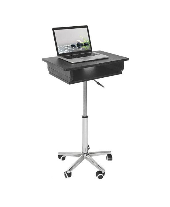 RTA Products Techni Mobili Folding Table Laptop Cart
