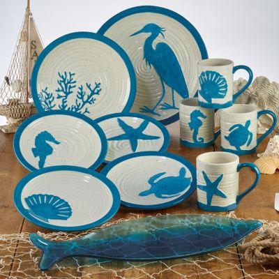 Certified International Natural Oval Fish Platter